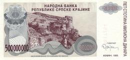 SERBIAN KRAJINA 500 MILLION DINARS 1993 P-R26 UNC [RSK220a] - Banknotes