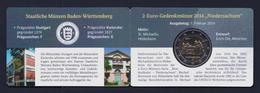 "2014 GERMANIA ""NIEDERSACHSEN / CHIESA SAN MICHELE"" 2 EURO COMMEMORATIVO (COINCARD ZECCA F) - Germania"