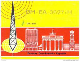 Amateur Radio Contact SWL Card From DM-EA-3627/H In Germany - 1968 - 2 Scans - Radio Amateur