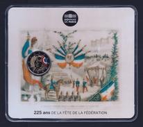 """2015 FRANCIA """"225° ANNIVERSARIO FESTA FEDERAZIONE"""" 2 EURO COMMEMORATIVO FDC (COINCARD) - Francia"""