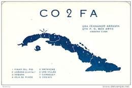 Amateur Radio QSL Card - CO2FA - Habana, Cuba - 1969 - 2 Scans - Radio Amateur