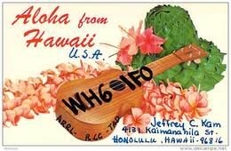 Amateur Radio QSL - WH6IFO - Honolulu, Hawaii -USA- 1974 - 2 Scans - Radio Amateur
