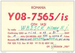 Amateur Radio Contact SWL Card - YO8-7565/is In Romania - 1969 - 2 Scans - Radio Amateur