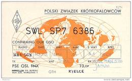 Amateur Radio Contact SWL Card From SP7-6386 In Poland - 1975 - 2 Scans - Radio Amateur