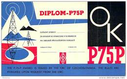 Amateur Radio Contact SWL Card - OK2-13950 In Czech - 1969 - 2 Scans - Radio Amateur