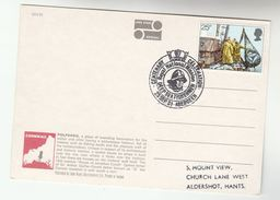 1981 Aberdeen GB DEEP SEA FISHING EVENT COVER (card) Fish Stamps Fdc Postcard Polperro - Fishes