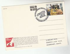 1981 Falmouth GB International FISHERIES EXHIBITION EVENT COVER (card)  FISHING Fish Stamps Fdc Postcard Newlyn - Fishes