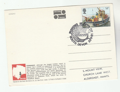 1981 Brixham GB FISHING FLEETS OF SOUTH DEVON EVNT COVER (card)  FISHING Fish Stamps Fdc Postcard Torquay Outer Harbour - Fishes