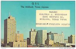 Amateur Radio QSL - WA5JUI - Midland, TX -USA- 1967 - 2 Scans - Radio Amateur