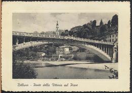 °°° 5478 - BELLUNO - PONTE DELLA VITTORIA SUL PIAVE - 1957 °°° - Italia