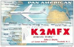 Amateur Radio QSL - K2MFX - Freehold, NJ -USA- 1966 - 2 Scans - Radio Amateur