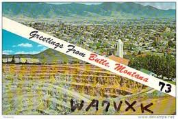 Amateur Radio QSL - WA7VXK - Butte, MT -USA- 1974 - 2 Scans - Radio Amateur