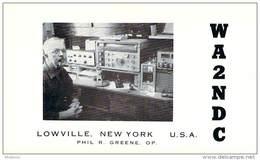 Amateur Radio QSL - WA2NDC - Lowville, NY -USA- 1974 - 2 Scans - Radio Amateur