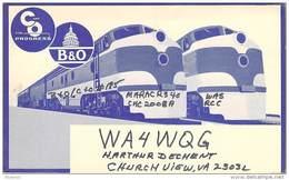 Amateur Radio QSL - WA4WQG - Churchview, VA -USA- 1975 - 2 Scans - Radio Amateur