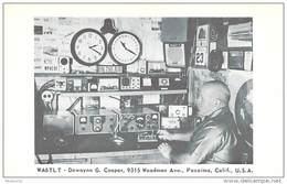 Amateur Radio QSL- WA6TLT - Pacoima, CA -USA- 1966 - 2 Scans - Radio Amateur