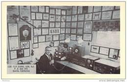 Amateur Radio QSL- K6BX Clif Evans CHC# 01 - Bonita, CA -USA- 1967 - 2 Scans - Radio Amateur