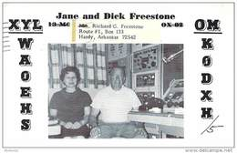 Amateur Radio QSL- K0DXH/5 - Hardy, AR -USA- 1967 - 2 Scans - Radio Amateur