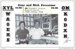Amateur Radio QSL- K0DXH/5 - Hardy, AR -USA- 1967 - 2 Scans