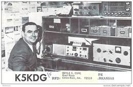 Amateur Radio QSL- K5KDG/5 - Calico Rock, AR -USA- 1967 - 2 Scans
