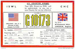 Amateur Radio Contact SWL Card From G10173 In Lincoln, England - 1969