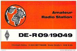 Amateur Radio Contact SWL Card From DE-R09/19049 In Germany - 1974 - 2 Scams