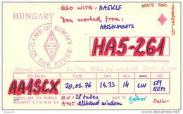 Amateur Radio Contact SWL Card From HA5-261 In Hungary - 1976 - 2 Scans