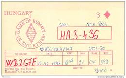 Amateur Radio Contact SWL Card From HA3-436 In Hungary - 1978 - 2 Scans
