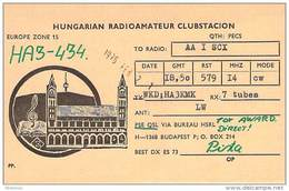 Amateur Radio Contact SWL Card From HA3-434 In Hungary - 1976