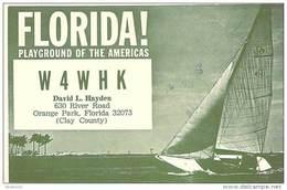 Amateur Radio QSL - W4WHK - Orange Park, FL -USA- 1975 - 2 Scans