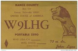 Amateur Radio QSL - W9LHG - Genoa, NE -USA- 1974 - 2 Scans - Radio Amateur
