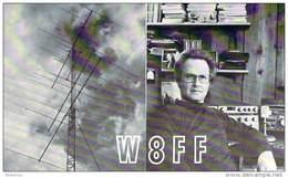 Amateur Radio QSL - W8FF - Alanson, MI -USA- 1977 - 2 Scans