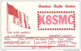 Amateur Radio QSL - K8SMC - Jackson, MI -USA- 1977 - 2 Scans
