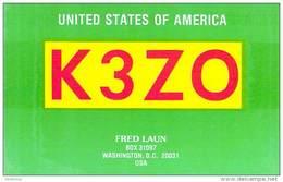 Amateur Radio QSL - K3ZO - Washington, DC -USA- 1977 - 2 Scans