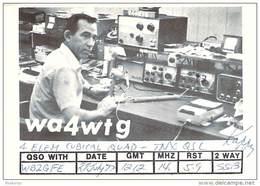 Amateur Radio QSL - WA4WTG - Miami, FL - 1977 - 2 Scans - Radio Amateur