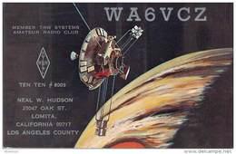 Amateur Radio QSL - WA6VCZ - Lomita, CA -USA- 1974 - 2 Scans