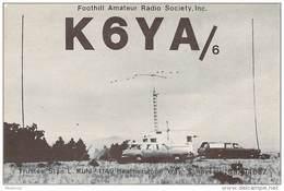Amateur Radio QSL - K6YA/6 - Foothill Amateur Radio Society - Sunnyvale, CA -USA- 1974 On 21MHz - Radio Amateur