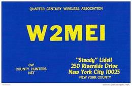 Amateur Radio QSL - W2MEI - New York City, NY -USA- 1977 - 2 Scans