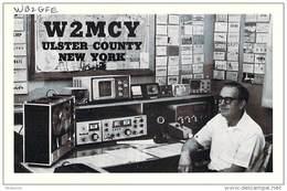 Amateur Radio QSL - W2MCY - Saugerties, NY -USA- 1977 - 2 Scans - Radio Amateur