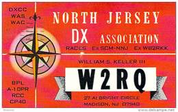 Amateur Radio QSL - W2RQ - Madison, NJ -USA- 1977 - 2 Scans