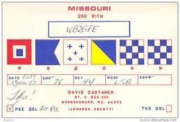 Amateur Radio QSL - WB0ONN - Warrensburg, MO -USA- 1977