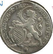 AUSTRIA NETHERLANDS 1 ESCALIN LION SHIELD FRONT M. THERESA SHIELD BACK 1753 AG SILVER KM15 READ DESCRIPTION CAREFULLY!! - Austria