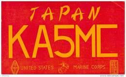 Amateur Radio QSL Card -  KA5MC  US Marine Corps Japan - 1968 - 2 Scans