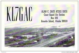 Amateur Radio QSL Card - KL7GAC - Coast Guard Air Station Annette Island, Alaska - 1968 - 2 Scans