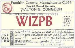 Amateur Radio QSL - W1ZPB - Mount Hermon School, MA -USA- 1966 Mass. QSO Party - 2 Scans