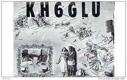 Amateur Radio QSL Card - KH6GLU - Molokai, Hawaii - 1968 - 2 Scans
