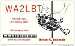 Amateur Radio QSL - WA2LBT/2 Portable At Rutgers Univ, New Brunswick, NJ -USA- 1974