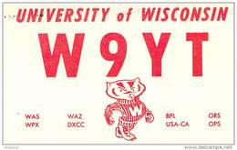 Amateur Radio QSL - W9YT Univ. Of Wisc. Badger Radio Society - 1973 - 2 Scans