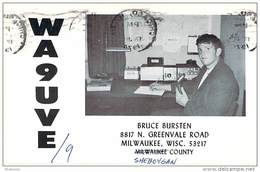 Amateur Radio QSL - WA9UVE/9 Portable In Sheboygan County WI -USA- 1974 - 2 Scans - Radio Amateur