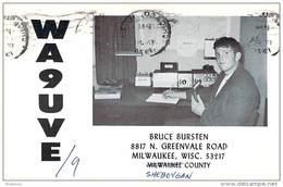 Amateur Radio QSL - WA9UVE/9 Portable In Sheboygan County WI -USA- 1974 - 2 Scans
