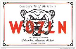 Amateur Radio QSL - W0ZLN - Univ Of Missouri Radio Club -USA- 1974 - 2 Scans